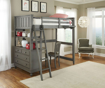 Lakehouse Loft Bed Twin Stone | NE Kids | NE2040