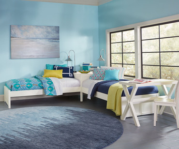 Pulse L-Shape Bed White | NE Kids Furniture | NE33051N
