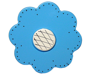 Blue Lolli Flower Drawer Pull | One World | OW-DP39557