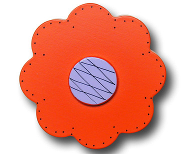 Orange Lolli Flower Drawer Pull | One World | OW-DP44559