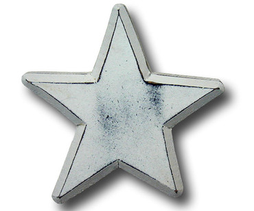 Distressed White Star Drawer Pull | One World | OW-DP515