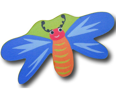 Blue Dragonfly Drawer Pull   One World   OW-DP516