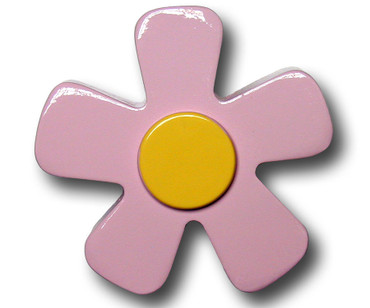 Pastel Pink Daisy Drawer Pull | One World | OW-DP535