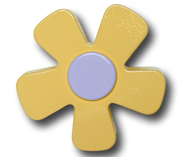 Pastel Yellow Daisy Drawer Pull | One World | OW-DP537
