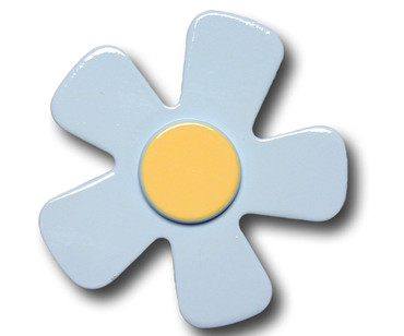 Pastel Blue Daisy Drawer Pull | One World | OW-DP587
