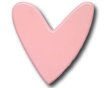 Pink Heart Drawer Pull | One World | OW-DP590