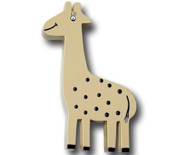 Khaki Giraffe Drawer Pull | One World | OW-DP601