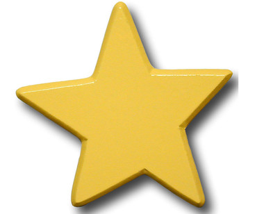 Pastel Yellow Star Drawer Pull | One World | OW-DP614