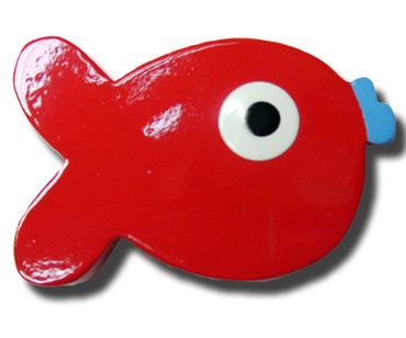 Red Puffer Fish Drawer Pull | One World | OW-DP640