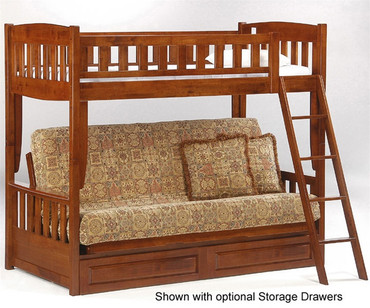 Spice Twin over Futon Bunk Bed Cherry | New Energy Furniture | SPICE-FB-CHR