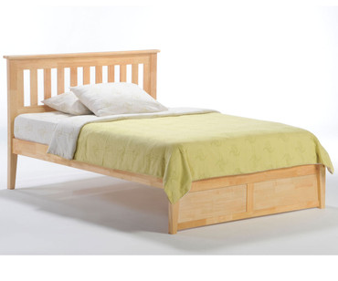Timber Creek Rosemary Platform Bed Natural | Night and Day Furniture | TCPB-NAT