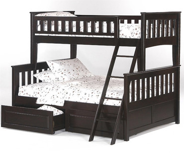Timber Creek Twin over Full Bunk Bed Chocolate | Night and Day Furniture | TCTFB-CLTE-CL