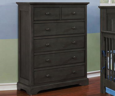 Allen House 6 Drawer Chest Weathered Dark Gray