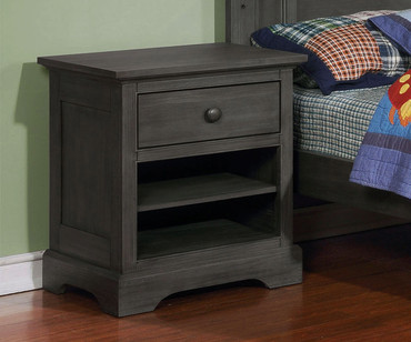 Allen House Nightstand Weathered Dark Gray