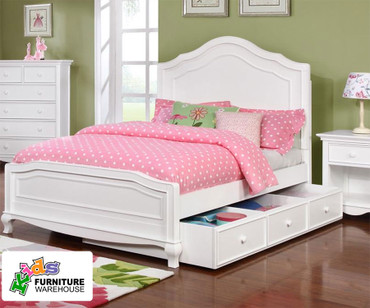 Cassie Panel Bed Twin Size White