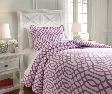 Taylor Bedding Set Lavender