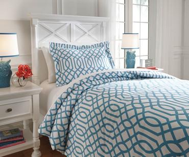 Taylor Bedding Set Aqua