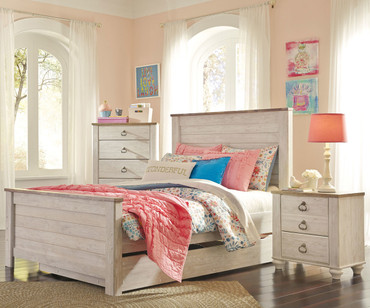 Willowton Panel Bed with Trundle Full Size