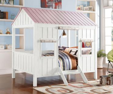 Spring Cottage Bed Full Size Pink