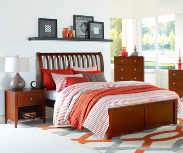 Urbana Sleigh Bed Full Size Cherry