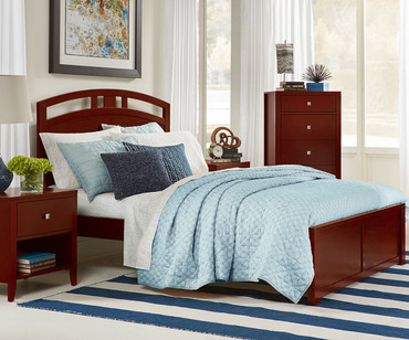 Urbana Arch Bed Full Size Cherry