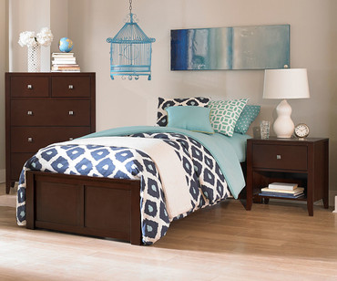 Urbana Platform Bed Twin Size Chocolate