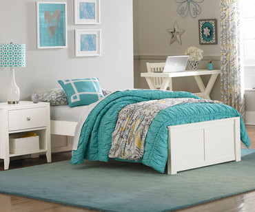 Urbana Platform Bed Twin Size White