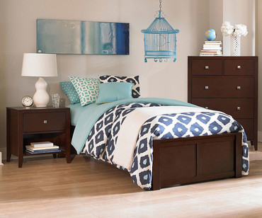 Urbana Platform Bed Full Size Chocolate