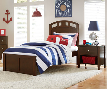 Urbana Arch Bed Twin Size Chocolate