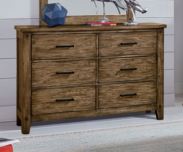 Nelson 6 Drawer Dresser Toffee