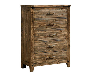 Nelson 5 Drawer Chest Toffee