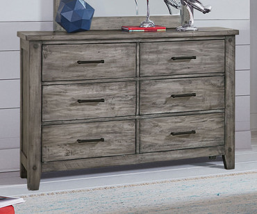 Nelson 6 Drawer Dresser Grey