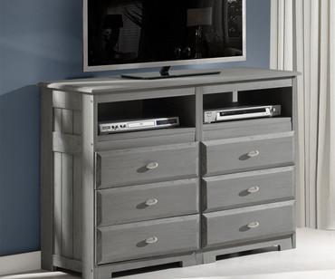 Westport Gray Entertainment Dresser