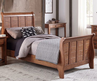 Grandpa's Cabin Sleigh Bed Full Size