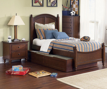 Abbott Ridge Panel Bed with Trundle Twin Size