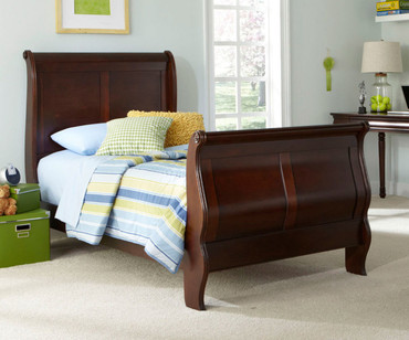 Carriage Court Sleigh Bed Twin Size
