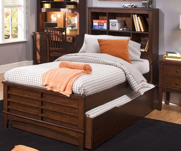 Chelsea Square Bookcase Bed with Trundle Twin Size