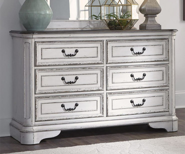 Magnolia Manor 6 Drawer Dresser