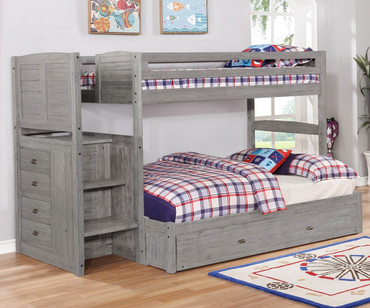 Northview Twin over Full Stair Stepper Bunk Bed