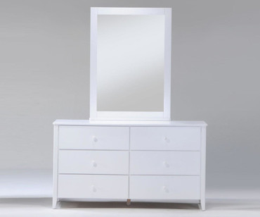 Zest 6 Drawer Dresser White