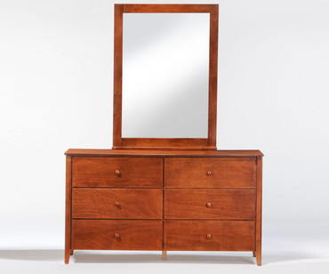 Zest 6 Drawer Dresser Cherry