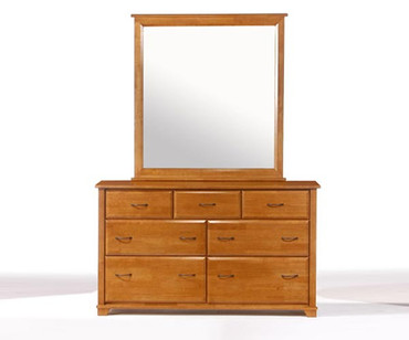 Juniper 7 Drawer Dresser Medium Oak