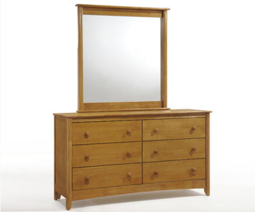 Timber Creek II 6 Drawer Dresser Medium Oak