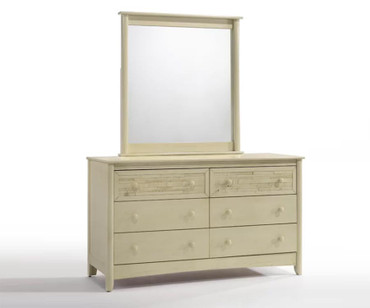 Shoreline 6 Drawer Dresser Buttercream