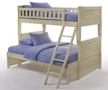 Shoreline Twin over Full Bunk Bed Buttercream