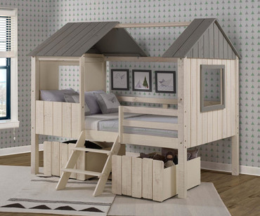 Playford Low Loft Bed Full Size