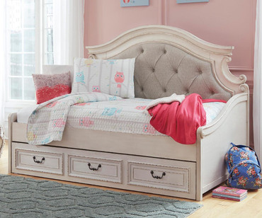 Realyn Upholstered Daybed with Storage Drawer