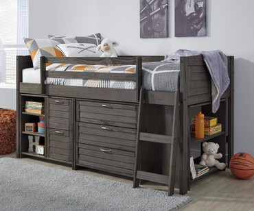 Caitbrook Storage Low Loft Bed