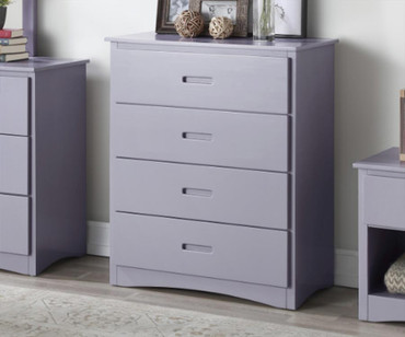 Stanford Four Drawer Chest Gray