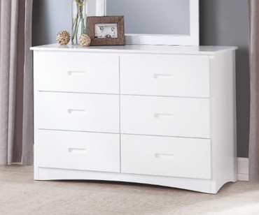 Stanford Six Drawer Dresser White